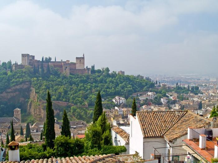 Vinylová Tapeta Přehled Granada a Algambra, Španělsko - Prázdniny