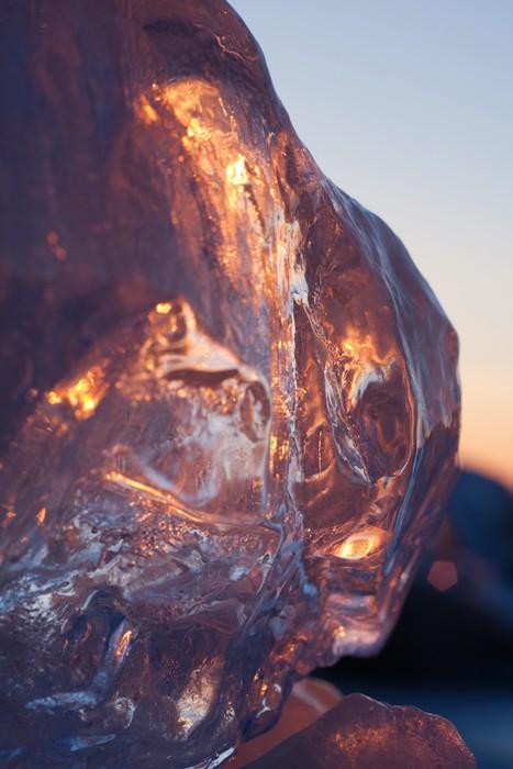 Vinylová Tapeta Ledové krystalky v svítání - Abstraktní