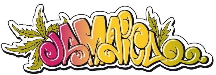 Vinylová Tapeta Jamajka graffiti - Nálepka na stěny