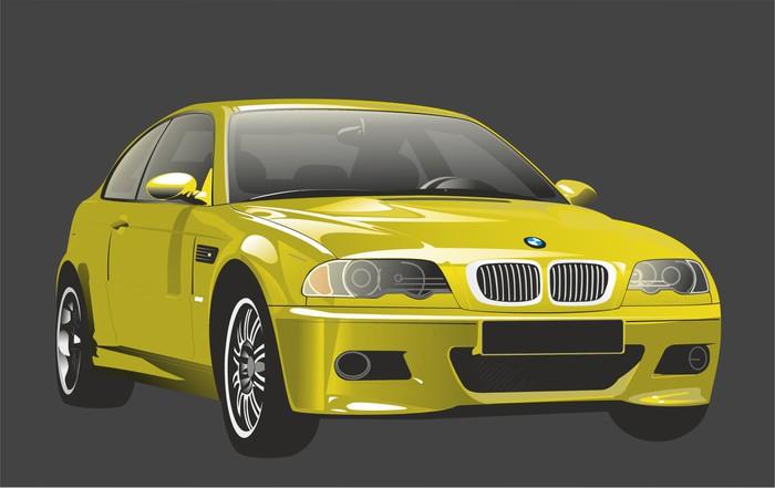 Vinylová fototapeta Auto vypadá jako BMW M3 - Vinylová fototapeta