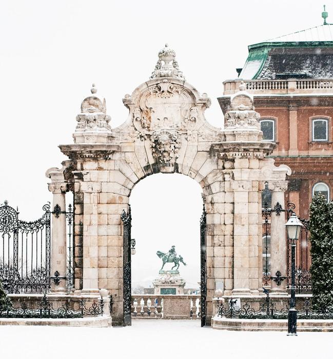 Tableau sur Toile Le célèbre palais de Buda à Budapest, Hongrie - Europe