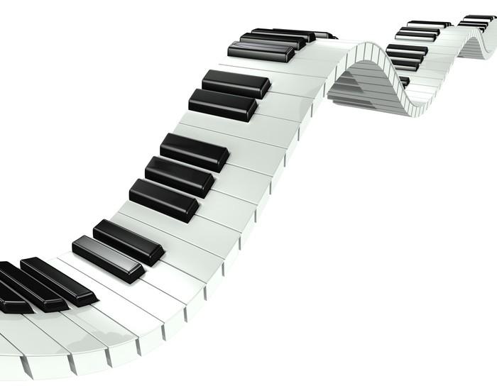 Fototapete 3d Welle Effekt Klaviertastatur Pixers 174 Wir