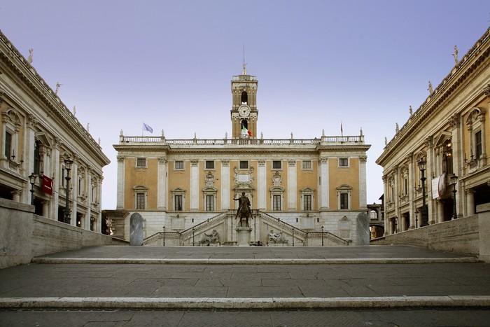 Vinylová Tapeta Roma, Palazzo Senatorio, Campidoglio - Evropská města