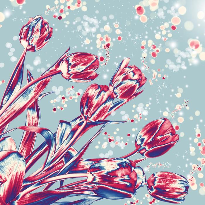 Vinylová Tapeta Solární tulipány - Květiny
