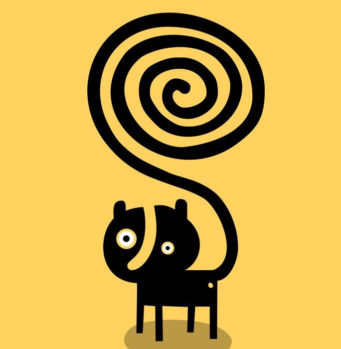 fototapete katze mit spiral tail pixers wir leben um zu ver ndern. Black Bedroom Furniture Sets. Home Design Ideas
