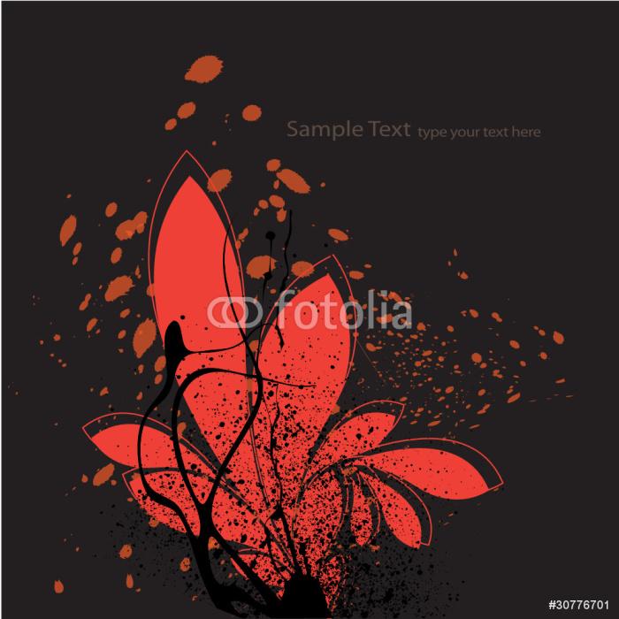 Vinylová Tapeta Grunge květina - Témata
