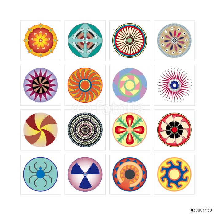 Vinylová Tapeta Piktogram logo grafický design ikonu vektoru kolo internet - Témata