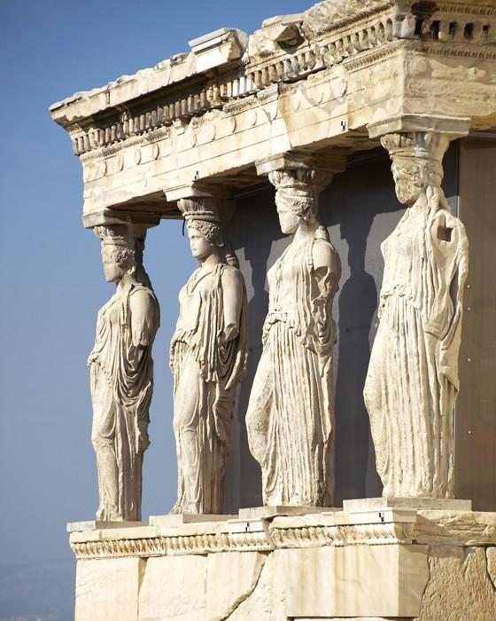 Vinylová fototapeta Caryatides, erechteion chrám Akropolis, Athény Řecko - Vinylová fototapeta