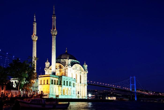 Vinylová Tapeta Noc v Ortakoy ve městě Istanbul - Střední Východ