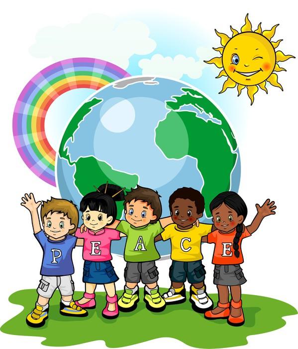 Vinylová Tapeta Děti United World míru - Criteo