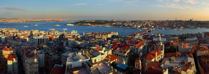 Vinylová Tapeta Istanbul Panorama při západu slunce - Evropa