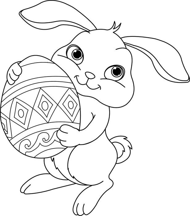 Vinilo Pixerstick Conejo de Pascua para colorear • Pixers® - Vivimos ...