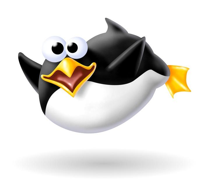 Vinylová Tapeta Náladový tučňák - Ptáci