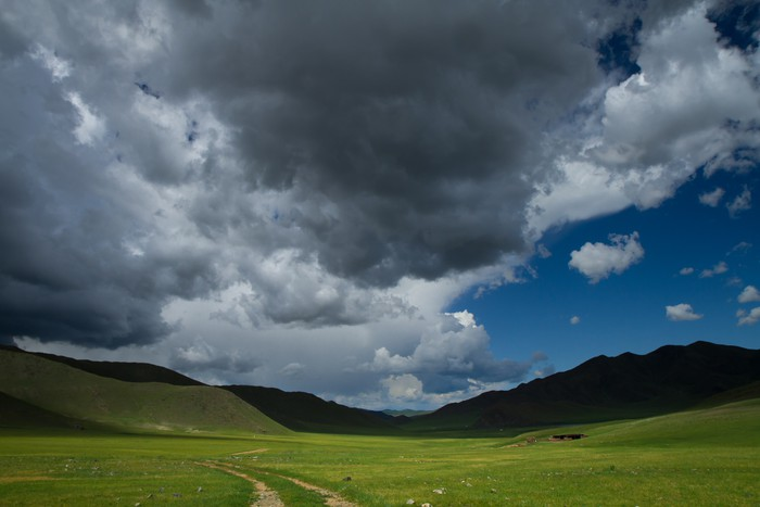 Nálepka Pixerstick Vallée Mongolie - Asie