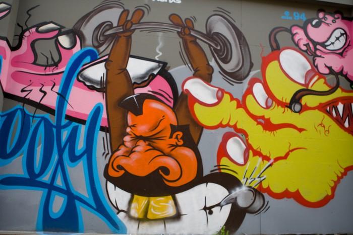 Vinylová Tapeta Graffiti Bodybuilder - Témata