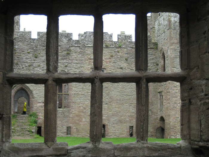 Castle looking through ruin window wall mural pixers for Castle window mural