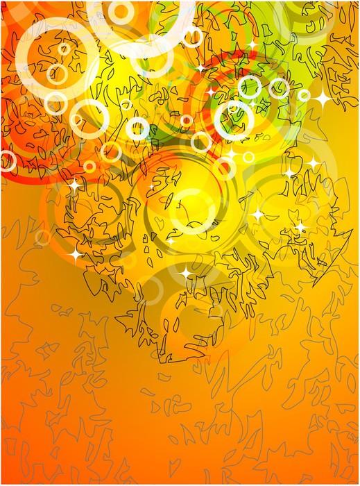 Vinylová Tapeta Oranžové pozadí - Umění a tvorba
