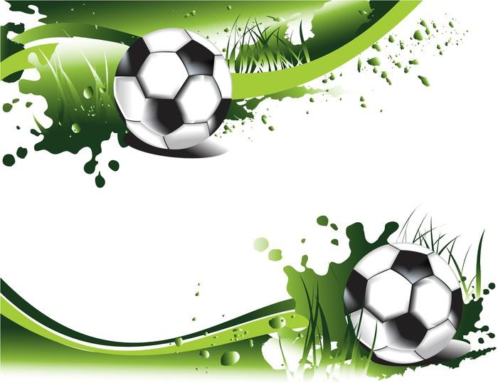 Deportes Pelotas Fondo Grunge: Fototapeta Zielone Banery Piłkarskie • Pixers