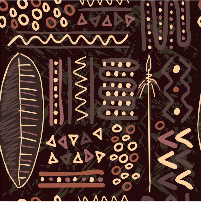 Papier peint motif africain tile seamless background for Kitchen cabinets lowes with poser papier peint