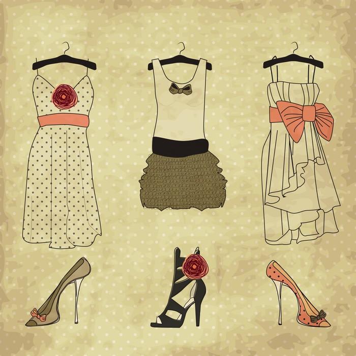Fototapete vintage mode boutique set doodles pixers for 31 twenty five boutique