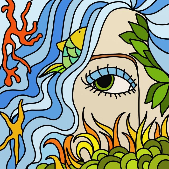 sirena Sticker - Pixerstick - Imaginary Animals