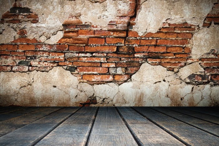 cracked plaster of old brick wall wall mural pixers we live to
