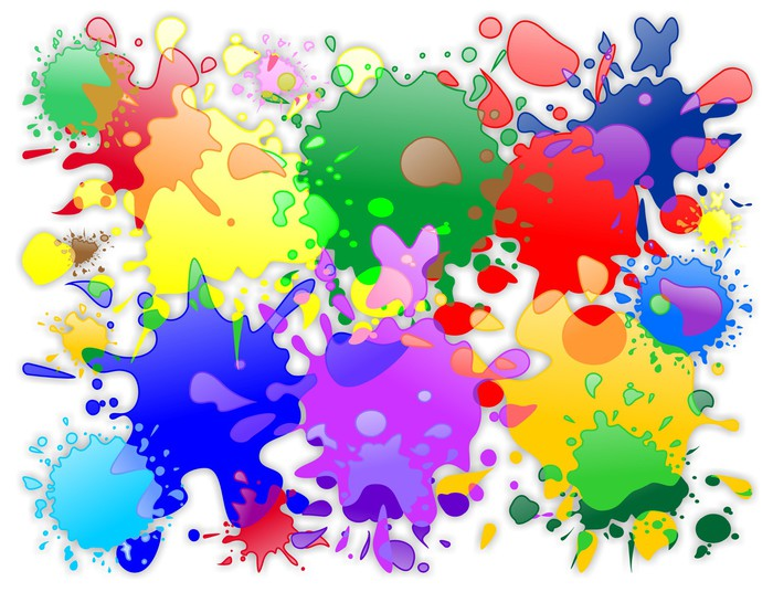 Vinilo pixerstick pinceladas de colores de pintura color - Vinilos de color ...