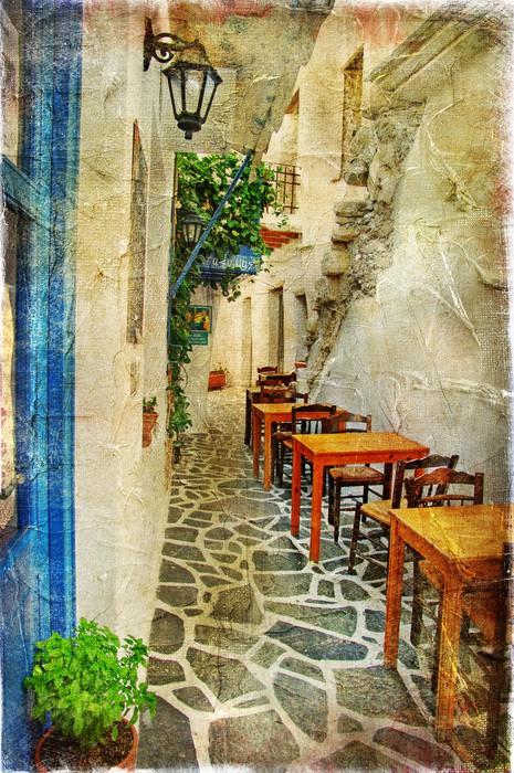 Carta da parati tradizionali taverne greche immagine for Carta da parati artistica