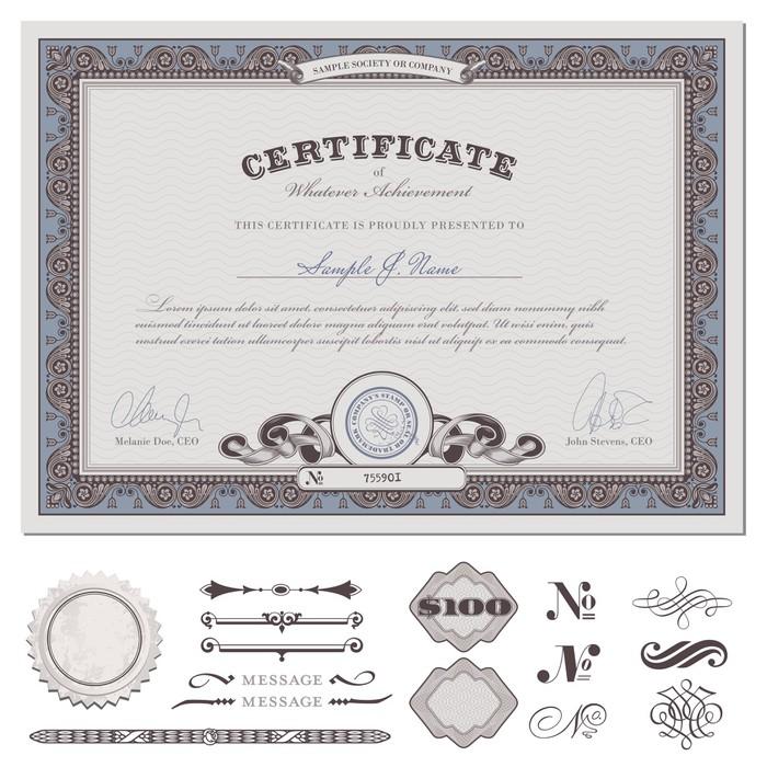 Aufkleber Zertifikat oder Coupons (tatsächliche Download ohne Probe ...
