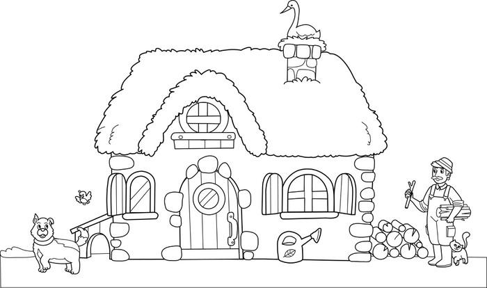Fotomural Antiguo granja para colorear para los niños • Pixers ...
