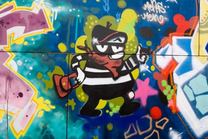 Vinylová fototapeta Graffiti Cartoon trestní - Vinylová fototapeta