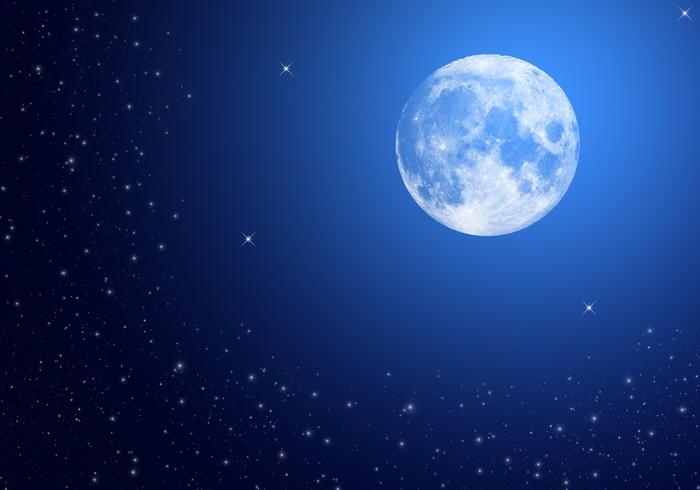Vinylová Tapeta Měsíc na obloze v noci - Témata