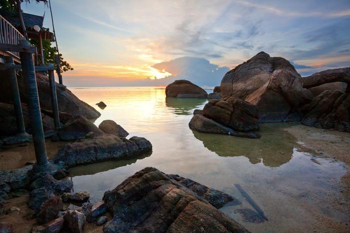 Vinylová Tapeta Tropické slunce na pláži. Thajsko - Nebe