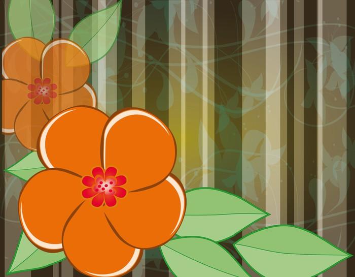 Vinylová Tapeta Abstraktní pozadí s pomerančového květu - Květiny