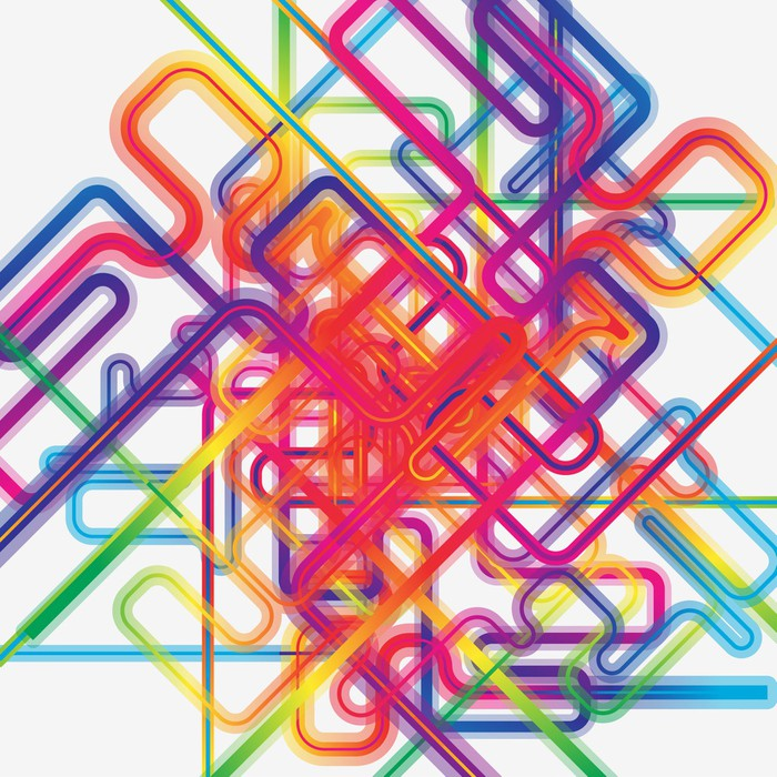 Abstract Background Vector Wall Mural - Vinyl - Themes