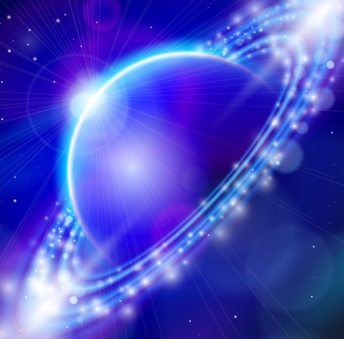 Vinylová Tapeta Modrá planeta - Meziplanetární prostor