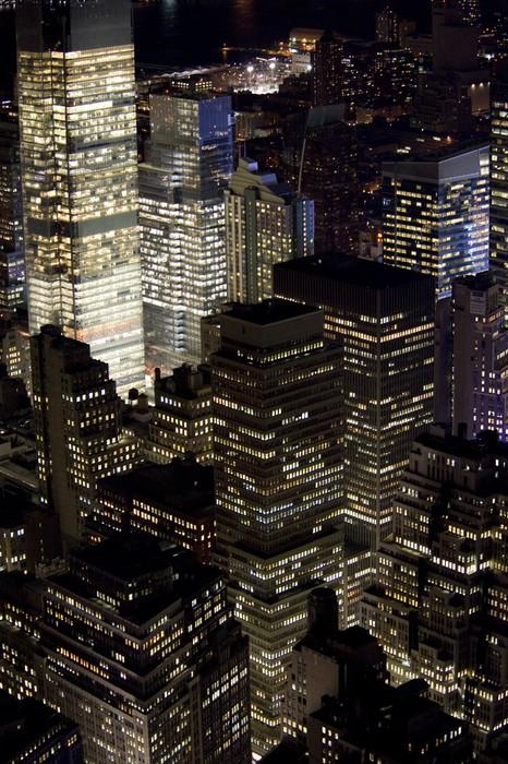 Vinylová Tapeta Manhattan v noci - Témata