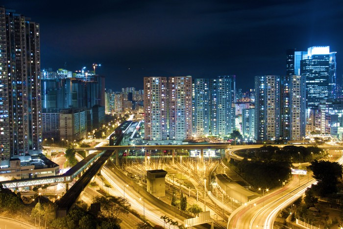 Vinylová Tapeta Moderní budova v Hong-Kongu - Asijská města