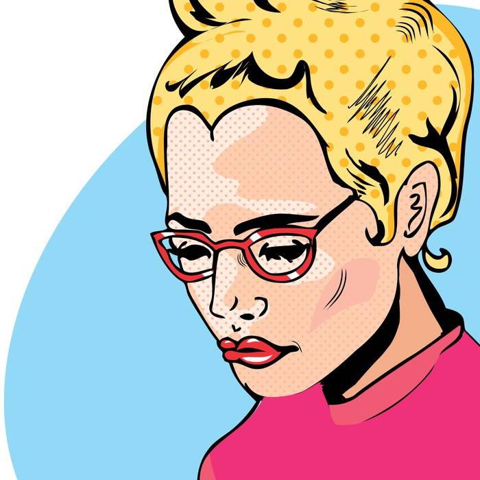 pop art woman comic book style with dot wall mural pixers we