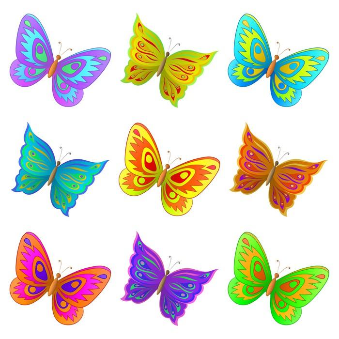 Vinylová Tapeta Sada motýli - Roční období