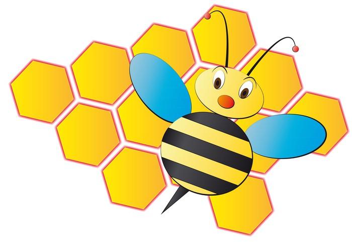 fotomural estndar ilustracin de dibujos animados con colmena de abejas otros otros