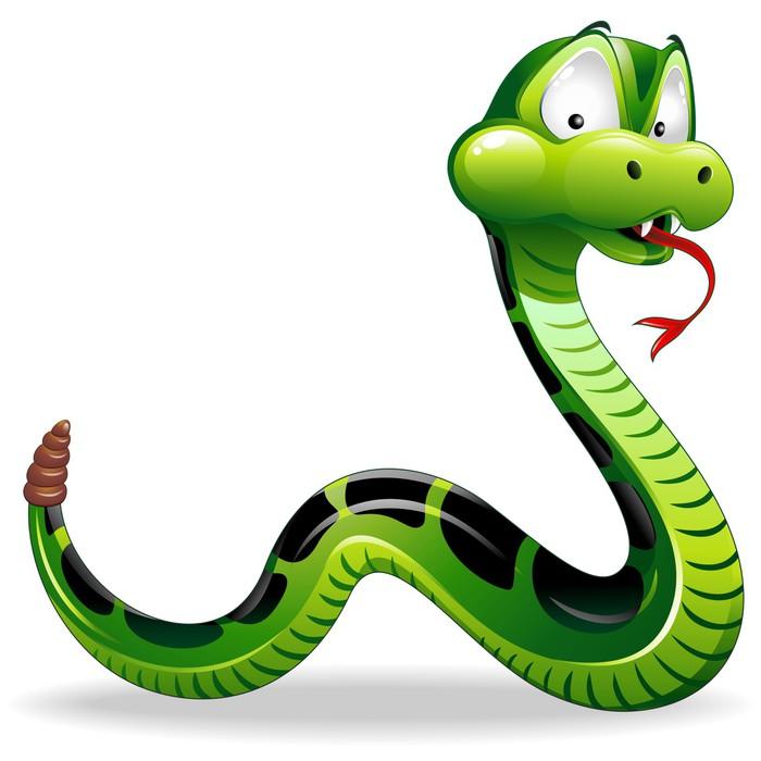 Carta da parati serpente del fumetto green snake cartoon