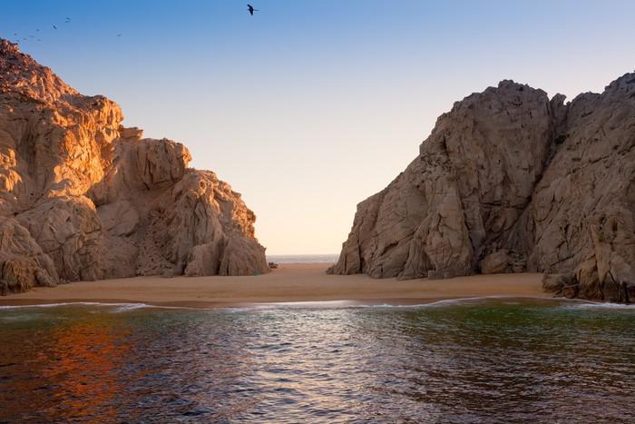 Vinylová Tapeta Lover Beach at Land je konec, Mexiko - Amerika