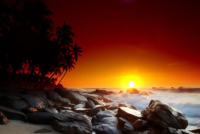 Vinylová fototapeta Západ slunce na Srí Lance - Vinylová fototapeta