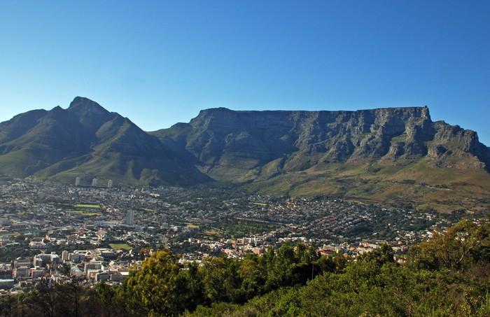Vinylová Tapeta Kapské město a Stolová hora (Jižní Afrika) - Afrika