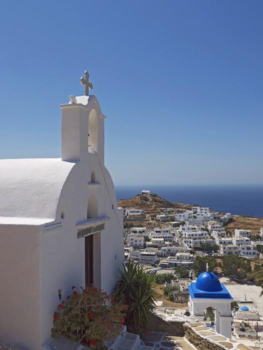 Vinylová Tapeta Ios církev krajina, Řecko - Evropa