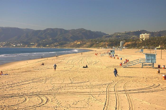Vinylová Tapeta Santa Monica Beach - Témata