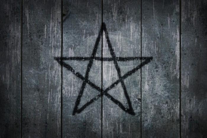 Vinyl Fotobehang Pentagram - Achtergrond