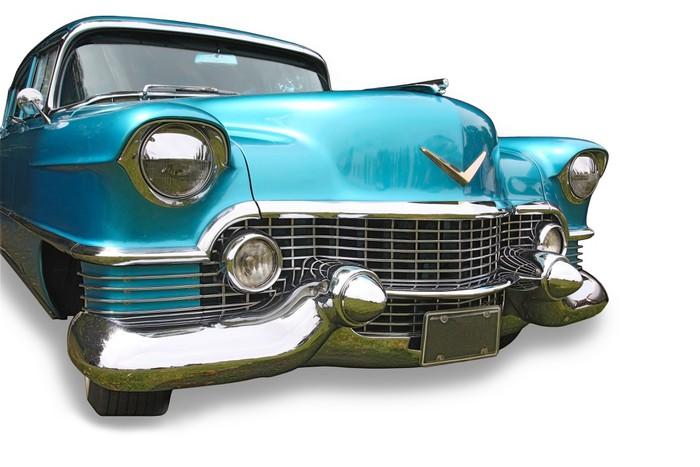 Sticker pour table et bureau bleu sur blanc voiture classique