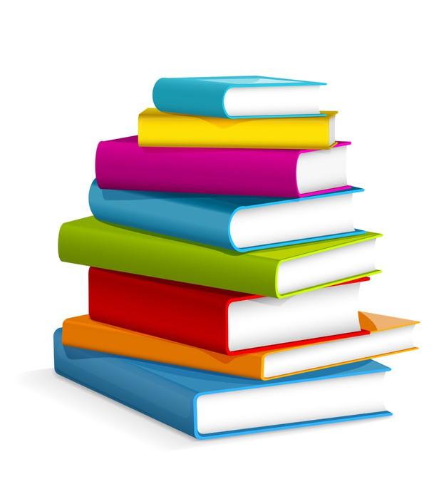 Bücherstapel zeichnung  Aufkleber Bücher Stapel • Pixers® - Wir leben, um zu verändern